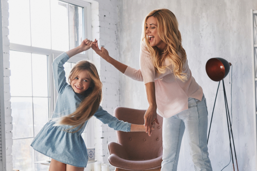 Mother Daughter Dancing